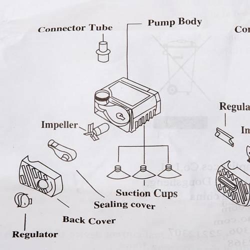 Pompe à eau pour crèche 2,5W AP300 2