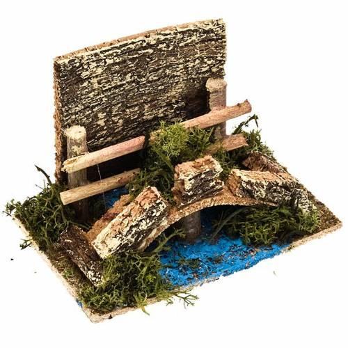 Pont sur ruisseau avec haie, article pour crèche 1