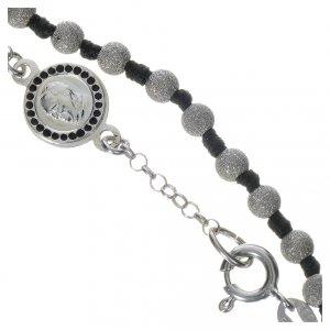 Pope Francis 800 silver one-decade bracelet, diamond effect grains s3