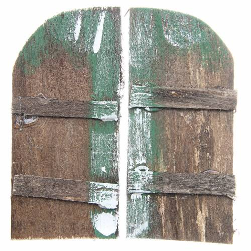 Porta in legno cm 11,5x5,5 ad arco set 2 pz s3