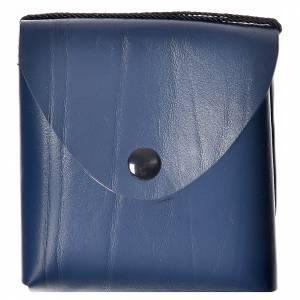 Porta teca pelle per teca 10 cm blu s1