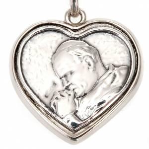Portachiavi argento Beato Giovanni Paolo II s3
