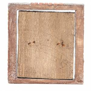 Portail pour crèche en bois 15x13 cm s3