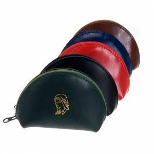 Portarosari: Portarosario pelle bustina con zip Miracolosa oro