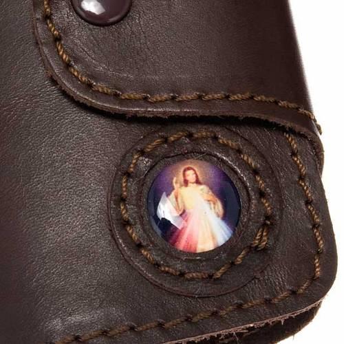 Porte- clés cuir 6 attaches image Jésus s2