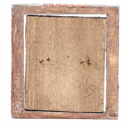 Portone per presepe in legno 15X13 cm s3