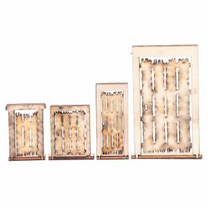 Portone rudere set 4 pz presepe napoletano fai da te legno s2