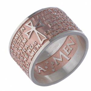 Prayer rings: Prayer ring Pater Noster in Latin silver rosé AMEN