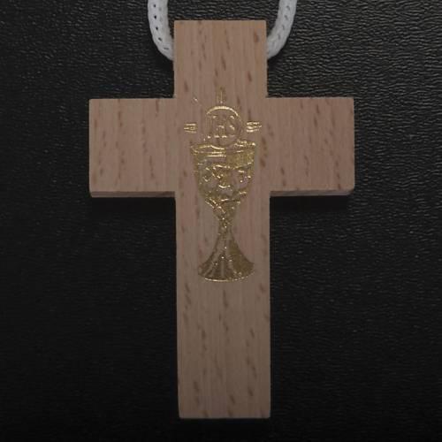 Première communion, set croix chapelet étui s4