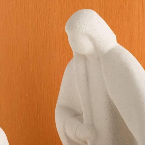 Presepe Noel argilla refrattaria legno arancio 28 cm s3