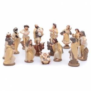 Presepe Terracotta Deruta: Presepe terracotta decorata mod. elegante 15 statuine 15 cm