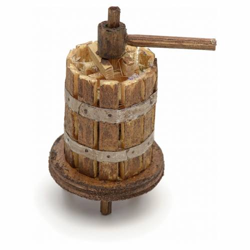 Pressoir en miniature crèche Naples 5,5x3 cm s1