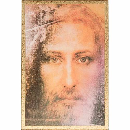 Print on wood, Face of Jesus of the Shroud with frame s1