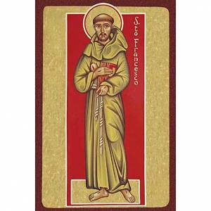 Print, Saint Francis of Assisi with book s1