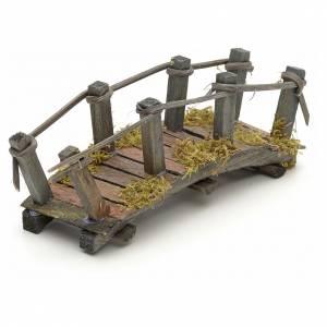 Puentes, Ríos y Empalizadas: Puente de madera cm 17,5x 6,7