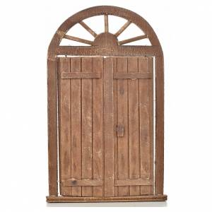 Belén napolitano: Puerta de entrada belén napolitano 13x21 cm.