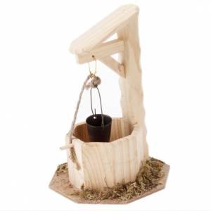 Puits en bois 10x10x15 pour crèche noël s1