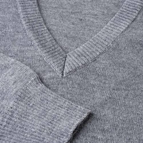 Pullover, ouverture en V,gris clair s3