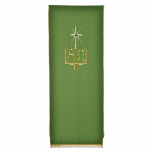 Pulpit cover with book Alpha and Omega s5