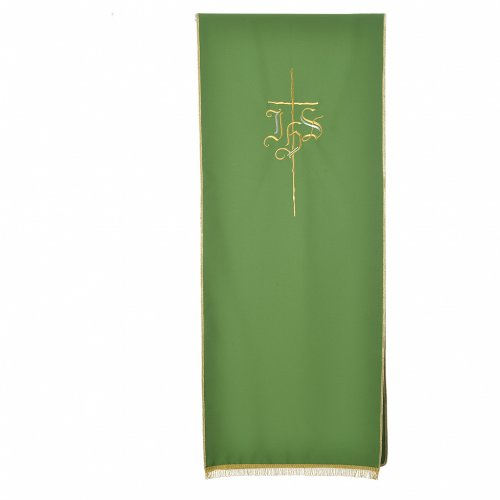 Pulpit cover with IHS and cross, polyester s5