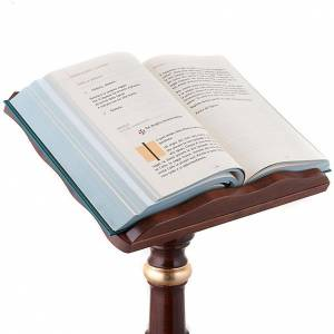 Lutrins sur pied: Pupitre colonne bois décors dorés