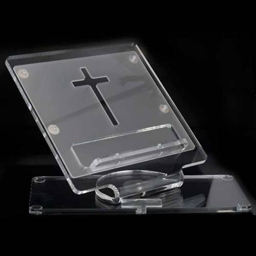 Pupitre plexiglas croix s4