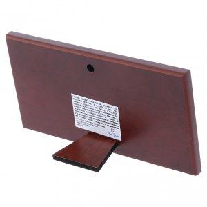 Quadro bilaminato retro legno pregiato Ultima Cena 7,5X15 cm s3