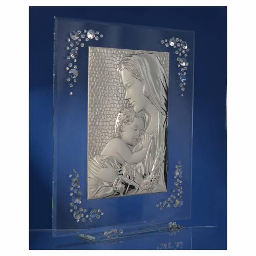 Quadro Maternità Argento e Swarovski Bianco s3