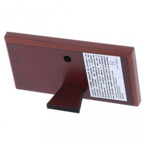 Quadro Ultima Cena colorato bilaminato retro legno pregiato 4,7X9,4 cm s3