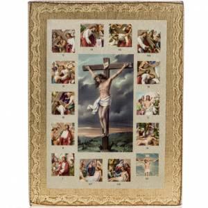 Quadro Via Crucis con Crocifissione s1