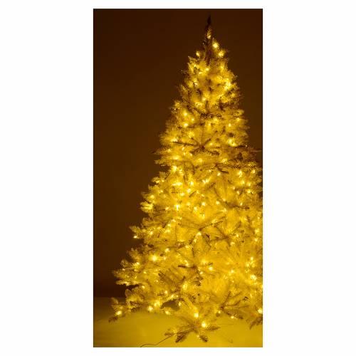 Árbol de Navidad 200 cm márfil con purpurina oro 400 luces LED s5