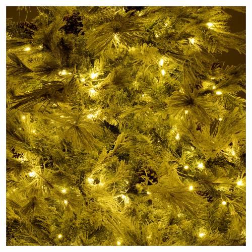 Árbol de Navidad 200 cm verde escarchado con purpurina 350 luces LED s6