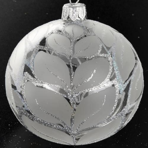 Árbol Navidad, bola de vidrio decoraciones plateadas 8 cm s2