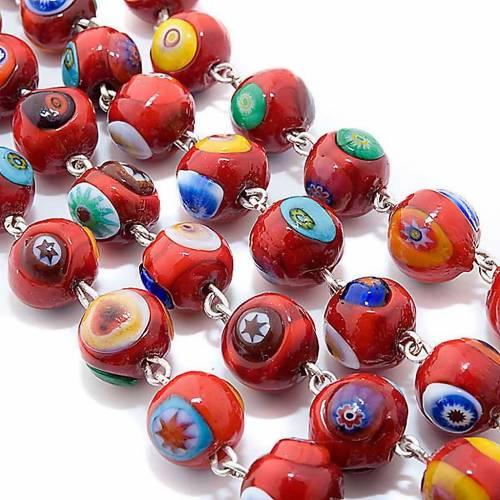 Red Murano glass rosary s2
