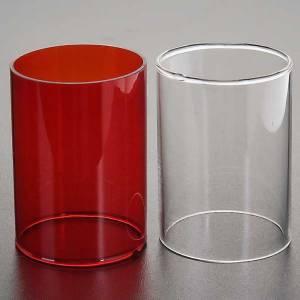 Lámparas y linternas: Repuesto vidrio lámpara Santísimo dos colores
