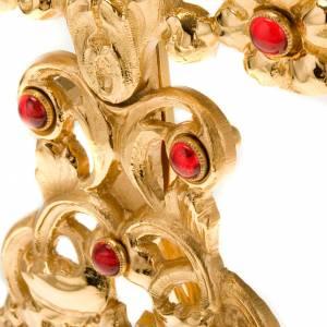 Relicario plateado/dorado con piedras s2