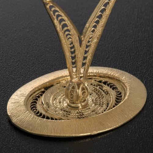 Reliquary in 800 silver filigree, decorated s4