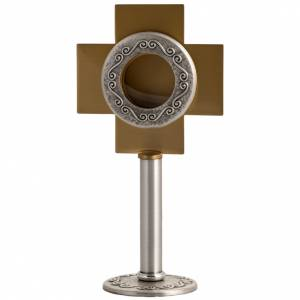 Reliquary in silver-plated brass with edgold-plat cross s1