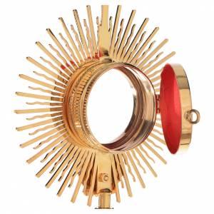 Reliquary, Sun model in golden brass H21cm s3