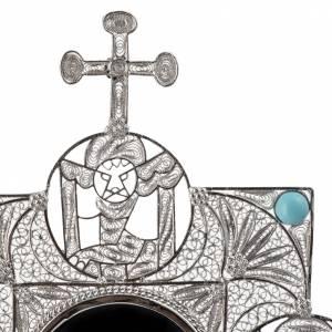 Reliquiario con croce filigrana argento 800 s7