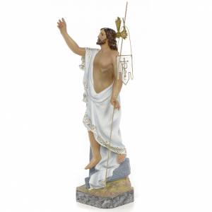 Hand painted wooden statues: Resurrected Christ 40cm, wood paste, superior decoration