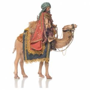 Pesebre Angela Tripi: Rey Mago blanco sobre camello Belén 13 cm Angela Tripi