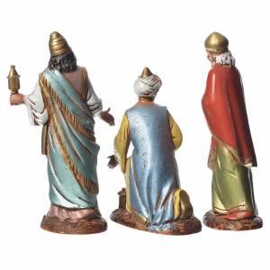 Reyes Magos con costumbres históricos, 3 pdz, para belén de Moranduzzo con estatuas de 10 cm s2