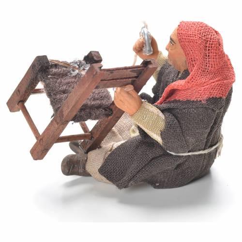 Riparatore di sedie seduto 10 cm presepe Napoli s2