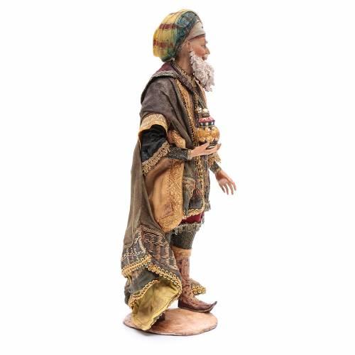 Roi Mage blanc crèche terre cuite Angela Tripi 30 cm s4
