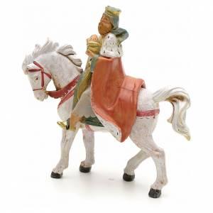 Roi Mage blanc sur cheval crèche Fontanini 12 cm s2