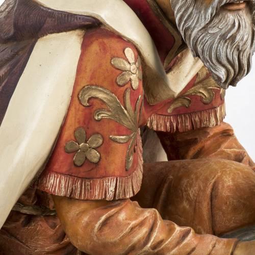 Roi Mage mulatre crèche Fontanini 125 cm résine s4