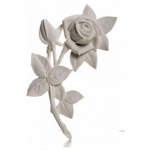 Rosa 21 cm, de mármol sintético s1