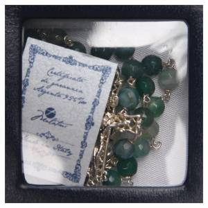 Rosario argento agata brasiliana sfaccettata verde 6 mm s4
