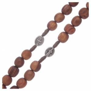 Rosari portarosari Medjugorje: Rosario Medjugorje croce metallo 7mm